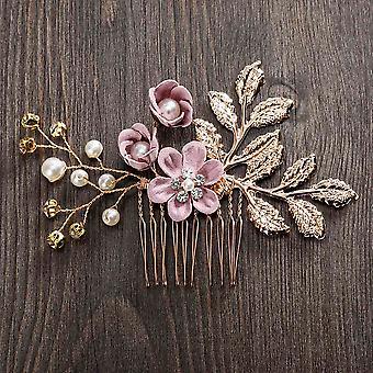 Women Hair Combs Headdress Prom Bridal Wedding Crown Elegant Hair Accessories