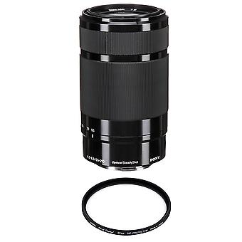 SONY SEL 55-210MM F4.5-6.3 OSS Black + HOYA 49mm PRO 1D Protector
