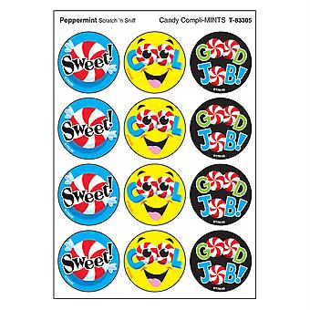 Candy Compli-Mints/Peppermint Stinky Stickers, 48 Count