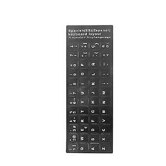 Waterproof French Russia Spanish Arabic Sticker For Notebook Computer