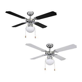 Ceiling fan Champion White / Black with light