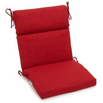 Coussin de chaise carrée extérieure en polyester de 18 pouces par 38 pouces - Papprika