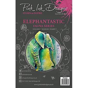 Pink Ink Designs Elephantastic A5 Clear Stamp