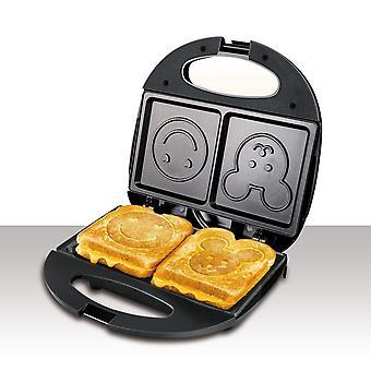 Electric Waffles Maker Cartoon Plate, Sandwich Maker, Machine Non-stick