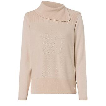 Olsen Beige Roll Neck Jumper