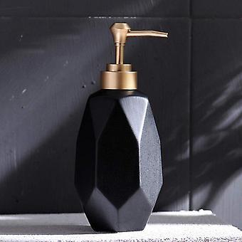 Distributeur de lotion en céramique de savon à vaisselle de pompe liquide (noir)