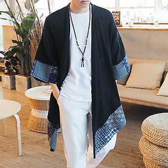Japansk Kimono Cardigan Mannlige Samurai Klær / Jakke / Skjorte