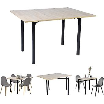Ausziehbartisch Esszimmer Tisch Tisch Kchentisch Rechteckig MDF Eiche