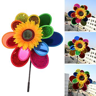 Pinwheels Wind Spinners For Yard And Garden 3 Layer Shining Windmill  Spinner