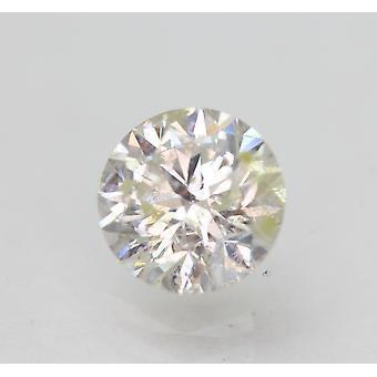 Sertifioitu 1,08 karat I SI2 pyöreä brilliant parannettu luonnollinen löysä timantti 6,47mm
