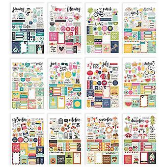 Simple Stories - Carpe Diem Planner Essentials - Seasons Sticker Tablet