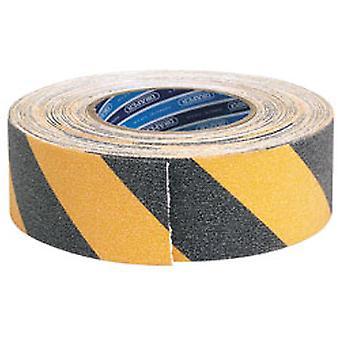 Draper 65440 18M x 50mm musta ja keltainen raskaan turvallisuuden Grip Tape Roll