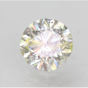 Certified 0.50 Carat G SI1 Round Brilliant Enhanced Natural Loose Diamond 5.03mm
