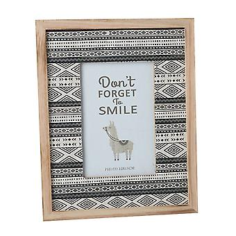Don't Forget to Smile Patterned Photo Frame Fits 10x15cm By Heaven Sends