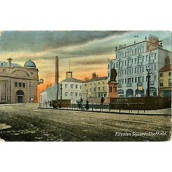 Fitzalan Square, Sheffield showing (left) General Post Office, Bakers Hill;. Large Framed Photo..
