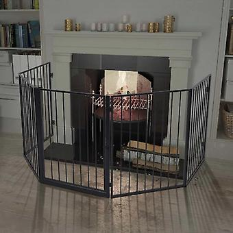 vidaXL chimney protection grille for animals steel black
