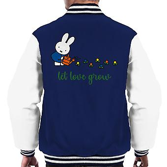Miffy Let Love Grow Men's Varsity Jacket