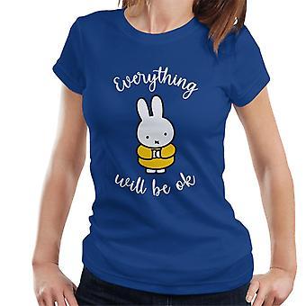 Miffy Allt kommer att vara ok kvinnor & t-shirt