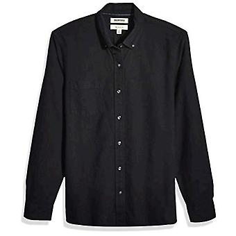 """Brand - Goodthreads Men's """"The Perfect Oxford Shirt"""" Slim-Fit Long-Sleeve Solid, Black X-Large Tall"""