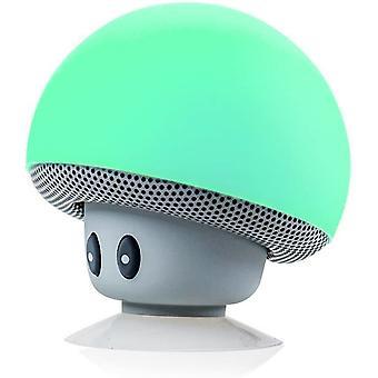 Mini Cogumelo Portátil Wireless Bluetooth V2.1 Alto-falante e Suporte de Telefone Celular com Sucção Cup Compatível com iPad, iPhone, Telefones Android, Laptop (Turquesa)