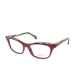 Face A Face Eyeglasses Frame GILDA 2 Col. 4023 Acetate Purple Red Lines Red Ligh