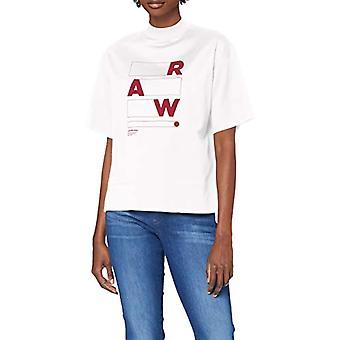 G-STAR RAW Raw Applique Grafisk Carnn Mock T-Shirt, Mjölk C539-111, M Kvinna