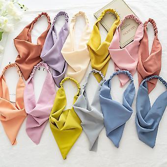 Women's scarf macaron color elastic band elastic triangular binder hair accessories