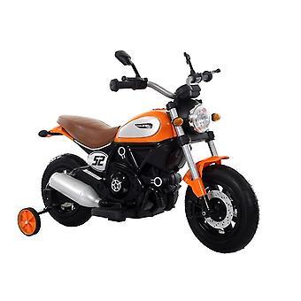 Motor pentru copii controlat electric Orange cu roți laterale