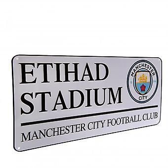 Letrero de la calle Manchester City FC