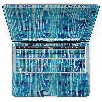 Blaue Aquarell Holzkorn - Macbook Pro mit Touch Bar Skin Kit