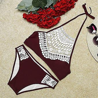Kvinder Badedragt Badedragt Sexy Hollow Out Summer Beach Push Up Bikini Set