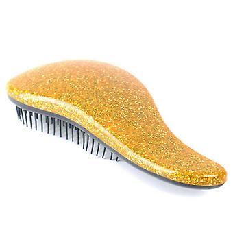 (Zlato) Glitter kartáč na vlasy Antistatické Multicolor Hair Comb Profesionální vlasy stylové