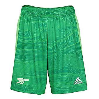 Arsenal 2021-2022 Home Goalkeeper Shorts (Solar Lime) - Kids