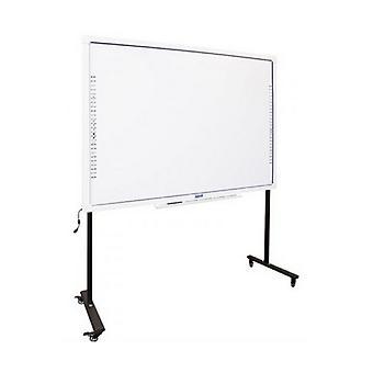 "Interactive Whiteboard + Stand with Wheels iggual IGG314388+314364 82"""