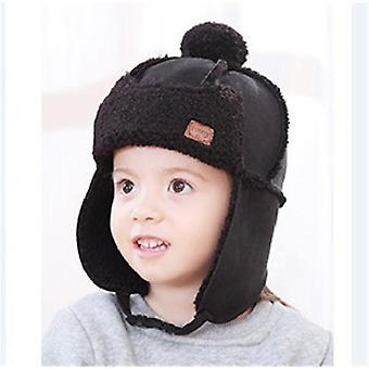Gyermekek téli meleg kalap pilóta sapkák S /