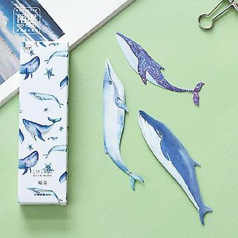 Whale Fish Paper Bokmärke Hållare Meddelandekort