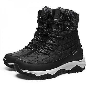 Men's High Top Snow Boots Winter Warm Tall Boot Waterproof Non-slip Hiking Shoes Outdoor Wear Resistant Trekking Shoes