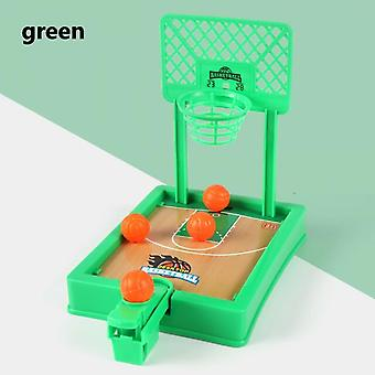 Mini Basketball Sport 2 Player Game Hoop Shooting Stand Toy Educational For Children Finger Basketball Shooting Family Game Toy Green