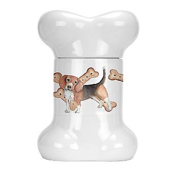 Gift boxes tins carolines treasures ck2367bstj beagle puppy bone shaped treat jar
