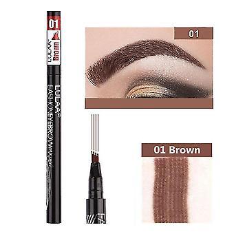 Eyebrow enhancers waterproof cosmetic eyebrow pen 01 brown
