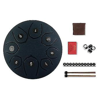 Drum kits tongue drum 6 inch steel tongue drum set 8 tune hand drum pad tank sticks carrying bag percussion