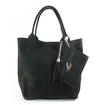 Vera Pelle Zamsz XL A4 Shopper Bag W567N everyday  women handbags
