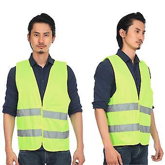 Gilet fluorescent réfléchissant haute visibilité Gilet de ventilation de sécurité extérieur