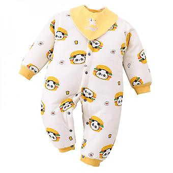 Cotton Baby Onesies Baby Quilted Clothes Thickening Cute Bear Warm Romper