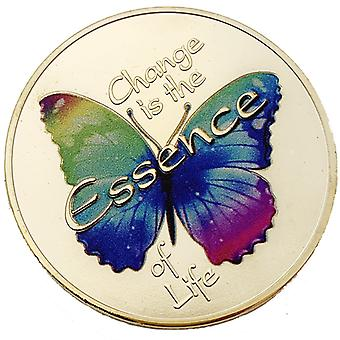 Papillon russe Sharp Change Collection de pièces commémoratives plaquées or Love Butterfly Change Pièce d'or Cadeau de pièce d'or