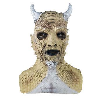 Halloween Props Cosplay Costume Game Diablo Headdress Demon Mask-yellow