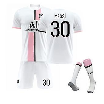 מסי 30 ג'רזי 2021-2022 העונה החדשה פריז כדורגל חולצות ג'רזי להגדיר לילדים צעירים
