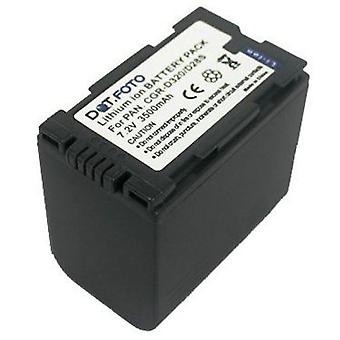 Dot.Foto Panasonic CGR-D28S, CGR-D320 udskiftningsbatteri - 7.2V / 3500mAh