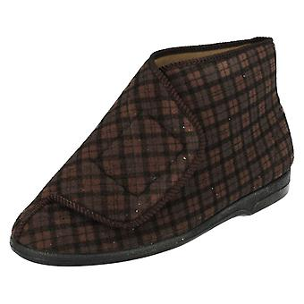 Mens Balmoral Hook and Loop Boot Style Slippers MVB
