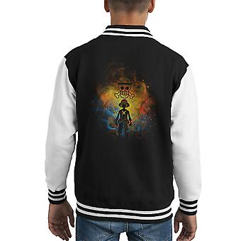 Piraten Sie-Kunst Monkey D Ruffy One Piece Kid Varsity Jacket